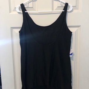 Black tank with scoop in back